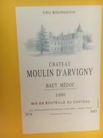 8333 - Château Moulin D'Arvigny 1990 Haut-Médoc - Bordeaux