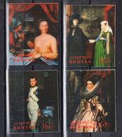 Bhutan   -  1970. Rubens, Clouet, Van Eyck, David. Quadri  In 3D. Complete Ordinary Post - Rubens