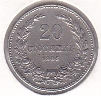 Bulgaria - 20 Stotinki 1906 - XF/SUP - Bulgarie