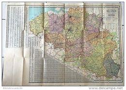 Carte De BELGIQUE Et Du GRAND DUCHE DU LUXEMBOURG  Avec Les Annexions De 1919 - Geographical Maps