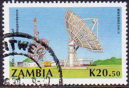 ZAMBIA 1990 SG #623  Used 20k.50 Satelite Earth Station - Zambia (1965-...)