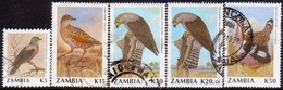 ZAMBIA 1990-91 SG #634-38 Part Set Used 5 Stamps Of 14 Birds (2nd Series) - Zambia (1965-...)