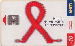 TARJETA TELEFONICA DE URUGUAY. 212a (HABLAR DE VIH/SIDA ES PREVENIR) (240) - Uruguay
