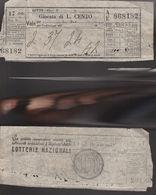 16768)SC1 GIOCO DEL LOTTO GIOCATA DA LIRE 100 1953 QUATERNA - Lottery Tickets