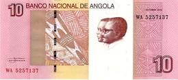 Angola P.151 10 Kwanzas  2012  Unc - Angola