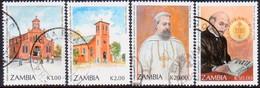 ZAMBIA 1991 SG #679-82 Compl.set Used St.Ignatius Loyola - Zambia (1965-...)