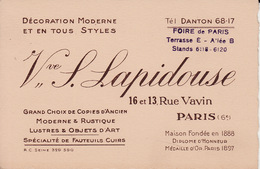 Paris 6e Rue Vavin Lapidouse  A CB5 - Visiting Cards