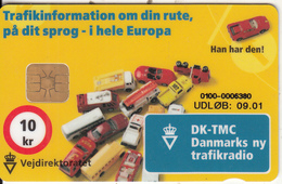 DENMARK - DK-TMC/Vejdirektoratet, Danmont Telecard 100 Kr., Exp.date 09/01, Used - Denmark