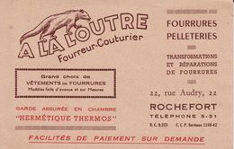 Rochefort A La Loutre Rue Audry CB5 - Visiting Cards