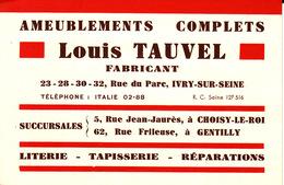 Choisy Le Roi Tauvel Rue Jean Jaurès CB5 - Visiting Cards