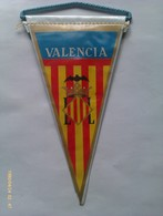 Banderín De Valencia. Asturias España. Años '60-'70 - Escudos En Tela