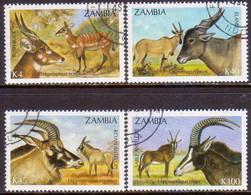 ZAMBIA 1992 SG #700-03 Compl.set Used Antelopes - Zambia (1965-...)