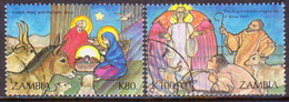 ZAMBIA 1992 SG #709//11 Part Set Used 2 Stamps Of 4 Christmas - Zambia (1965-...)