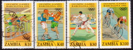 ZAMBIA 1992 SG #713-16 Compl.set Used Olympic Games, Barcelona - Zambia (1965-...)