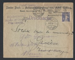 1ch.Drucksache.Die Post Ging 1926 Durch Basel Geneve.Ausstellung  Wasserkraftnutzung - Switzerland