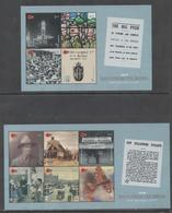 NEW ZEALAND ,2018, MNH, WWI, BACK FROM THE BRINK, PLANES, SOLDIERS, 2 SHEETLETS - Guerre Mondiale (Première)