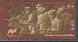 RUSSIA, 2018, MNH, WWII, BATTLE OF STALINGRAD, 1v - 2. Weltkrieg