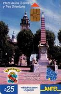 TARJETA TELEFONICA DE URUGUAY. 265a (PLAZA DE LOS TREINTA Y TRES ORIENTALES, SAN JOSE) (241) REGULAR, LIGERA DOBLEZ - Uruguay