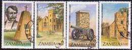 ZAMBIA 1996 SG #750-53 Compl.set Used Monuments - Zambia (1965-...)