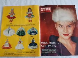 FRANCE URSS Magazine N°179 Décembre 1960 La Mode Russe à Paris,Hommage Aux Victimes Du Camp De Prisonniers De Rava Ruska - General Issues