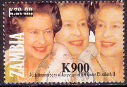 ZAMBIA 1997 SG #768 900k. On 38k. Used - Zambia (1965-...)