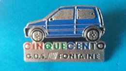Pin's  FIAT  Cinquecento  G D S  Fontaine - Fiat