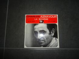 45 T. EP MEDIUM CHARLES AZNAVOUR LA BOHEME PLUS RIEN ET JE VAIS (BARCLAY 70879 MEDIUM VOIR PHOTOS - 45 Rpm - Maxi-Single