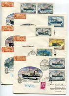 POLAR SHIPS FDC R-COVERS X6 USSR 1977 ICEBREAKERS OF THE USSR Mi# 4614-20 - Polar Ships & Icebreakers