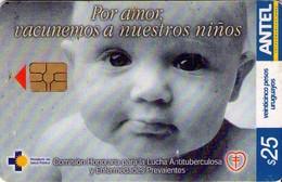 TARJETA TELEFONICA DE URUGUAY. 281a (POR AMOR, VACUNEMOS A NUESTROS NIÑOS) (243) - Uruguay