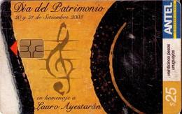 TARJETA TELEFONICA DE URUGUAY. 297a (DIA DEL PATRIMONIO) (246) REGULAR - Uruguay