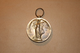 """Victory Medal - Medaille """" THE GREAT WAR FOR CIVILISATION 1914-1919"""" , WW1, 1WK - United Kingdom"""