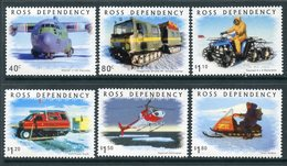 Y45 Territory Of Ross 2000 66-71 Antarctic Transport. Aircraft. Helicopters. ATVs - Other Means Of Transport