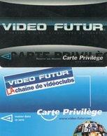 2 CARTES VIDEO FUTUR  Cartes Priviléges - France