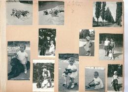 PHOTO Gros Lot De Photos Dans Album Voiture OLTEN FRANCE FEMME ENFANT MARSEILLE - Albums & Collections
