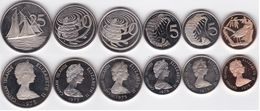 Cayman Islands - Set 6 Coins 1 5 5 10 10 25 Cents 1975 / 1979 XF+ / UNC Ukr-OP - Cayman Islands