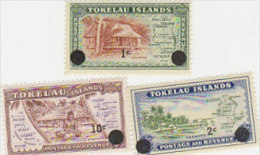 Tokelau-1967 Surcharged Set 3 Val 9-11 MNH - Tokelau
