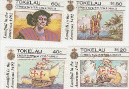 Tokelau-1992 Discovery Of America 500th Anniversary 182-185 MNH - Tokelau