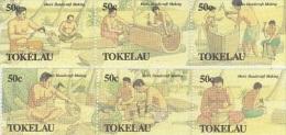 Tokelau-1990 Men's Handicrafts 172-177 MNH - Tokelau
