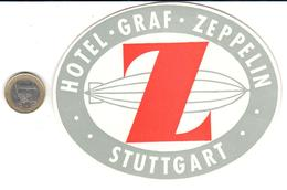 ETIQUETA DE HOTEL  -HOTEL GRAF ZEPPELIN  -STUTTGART  -ALEMANIA - Hotel Labels