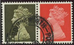 GB 1967 Yv. N°476c - 1p + 4p Se Tenant - Oblitéré - Machins