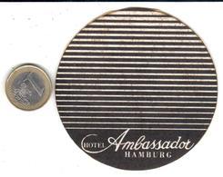 ETIQUETA DE HOTEL  -HOTEL AMBASSADOR  -HAMBURG  -ALEMANIA - Hotel Labels