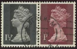 GB 1971 Yv. N°607a - 1p1/2 + 1p Se Tenant - Oblitéré - Machins