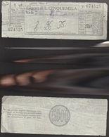 16772)SC1 GIOCO DEL LOTTO GIOCATA DA LIRE 5000 1987 CIRCA TERNO - Lottery Tickets