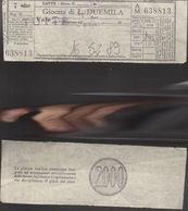 16772)SC1 GIOCO DEL LOTTO GIOCATA DA LIRE 2000 1980 CIRCA TERNO - Lottery Tickets