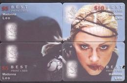 CINEMA ACTRESS MADONNA PUZZLE OF 4 PHONE CARDS - Cinema