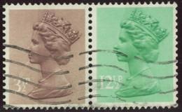 GB 1983 Yv. N°1018 + 1075 - 3p1/2 + 12p1/2 Se Tenant - Oblitéré - Machins