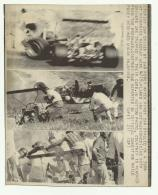 RIVERSIDE CALIFORNIA 1969  RON COURTNEY 'S CAR  HIT BROADSIDE BY CAR DRIVEN BY SAM POSEY...... CM.17X14 - Automobili