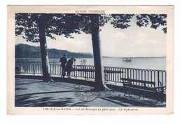 73 Le Bourget Du Lac Au Petit Port Un Hydravion Cpa Carte Animée - Le Bourget Du Lac