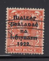 Ireland 1922 Used Scott #26b 2p Orange Die I - Oblitérés
