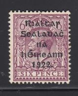 Ireland 1922 MH Scott #31 6p Red Violet - Ongebruikt